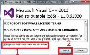 Necessário instalação do componente Visual C++ 2012, antes de instalar o WAMP Server