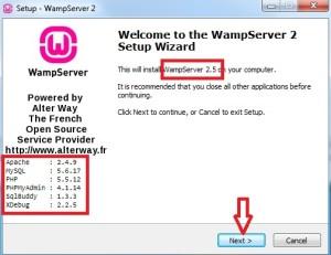 Iniciando o processo de instalação do WAMP Server