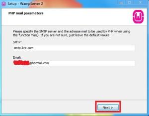 Configurando uma conta de email no serviço SMTP no WAMP Server