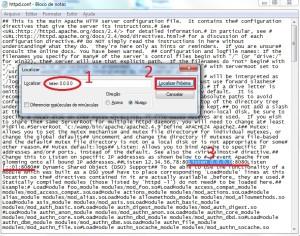 Alterando a porta padrão de acesso ao WAMP Server.