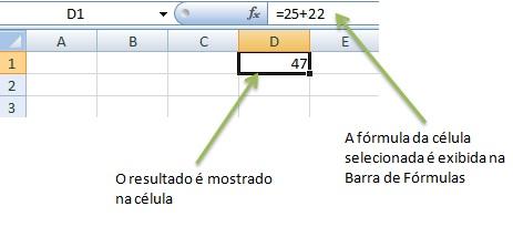 Trabalhando com fórmulas no Excel 2010.