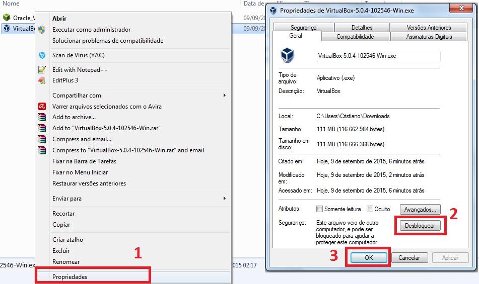 Instalação do VirtualBox 5 no Windows 7