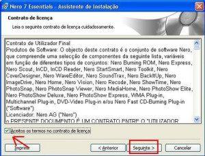 Instalação Nero 7 Essentials.